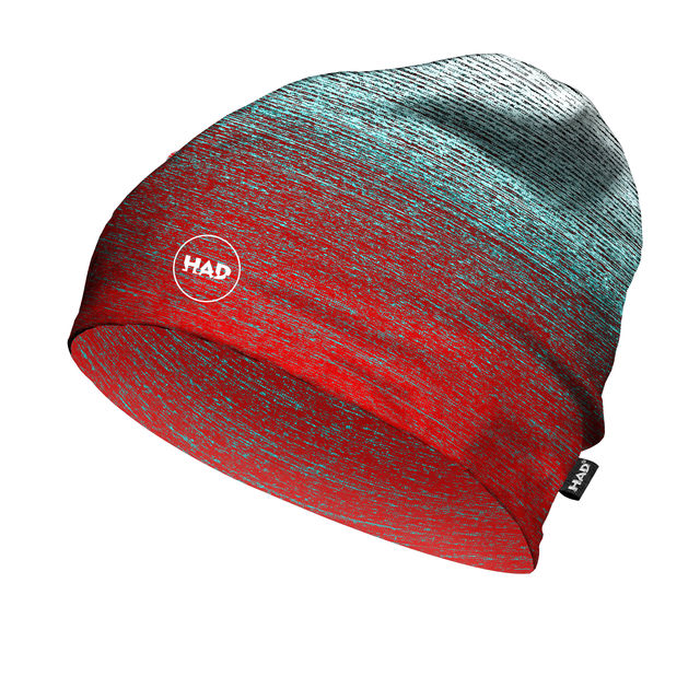 ProFeet HAD Printed Fleece Beanie (Gradient Melange Redblue)