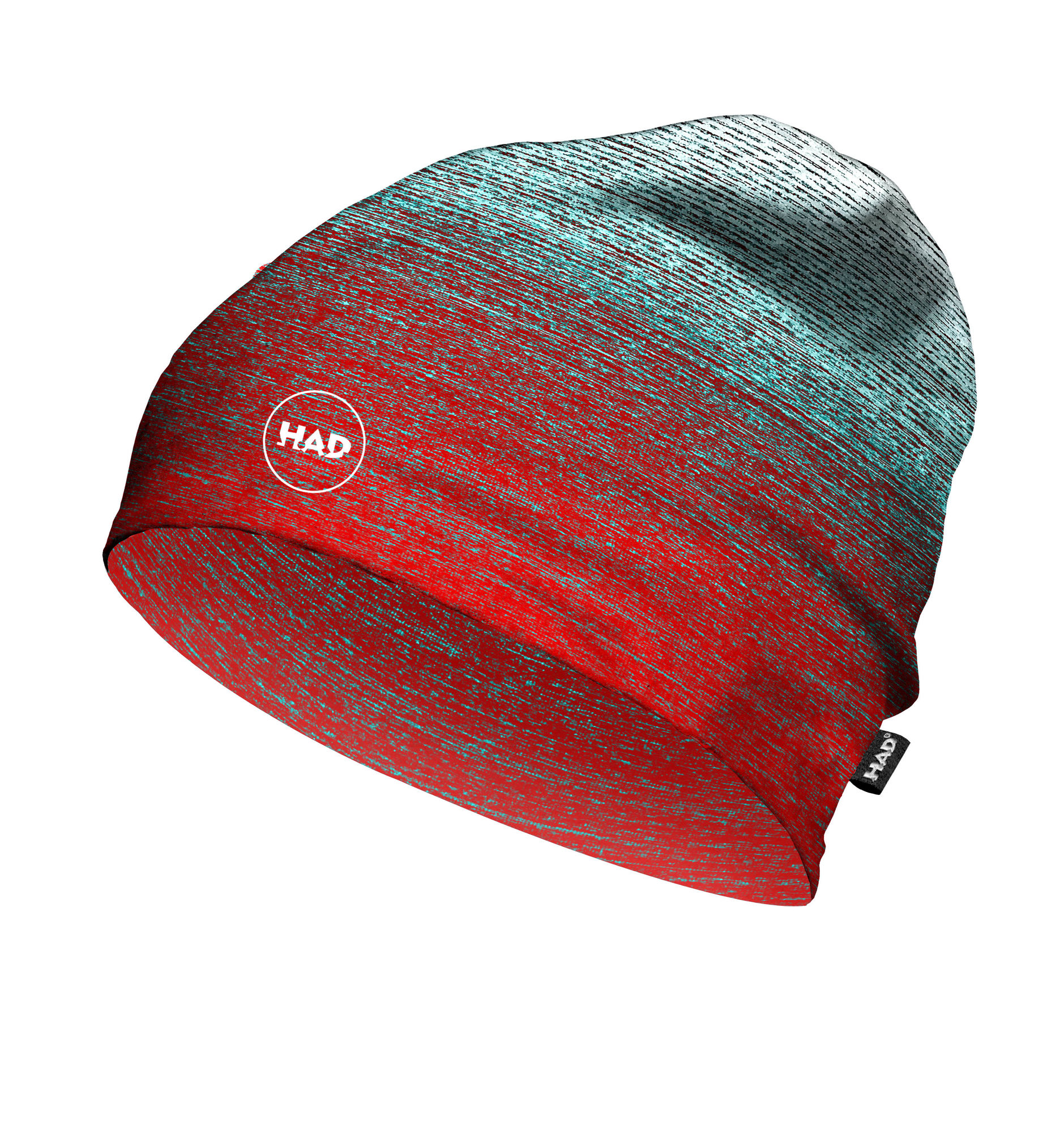 ProFeet HAD Printed Fleece Beanie in Gradient Melange Redblue