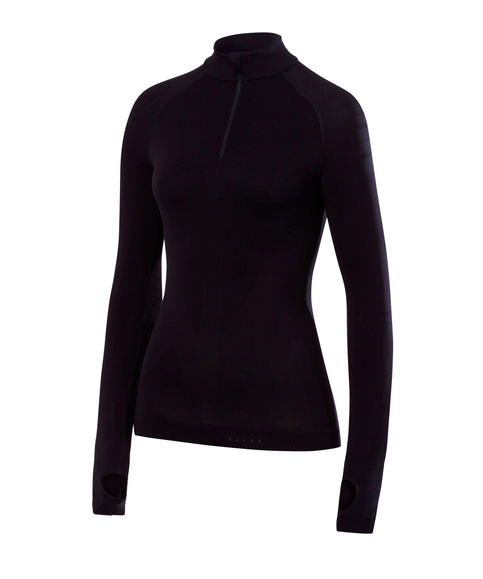 Falke Damen Langarmshirt warm in Schwarz
