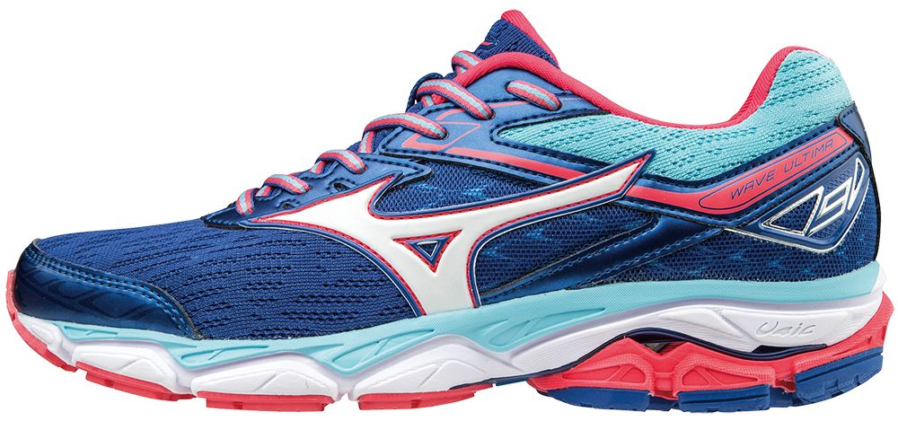 Mizuno Lady Wave Ultima 9 in Blau Weiß Pink