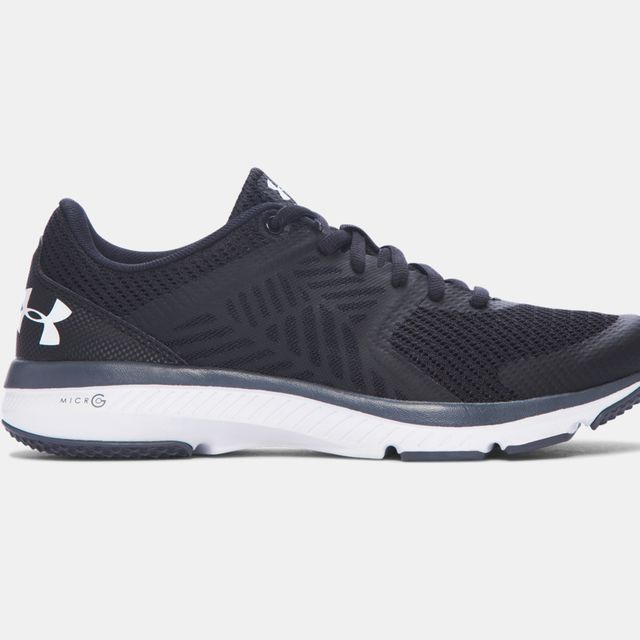 Under Armour Lady Micro G Press in Schwarz Weiß