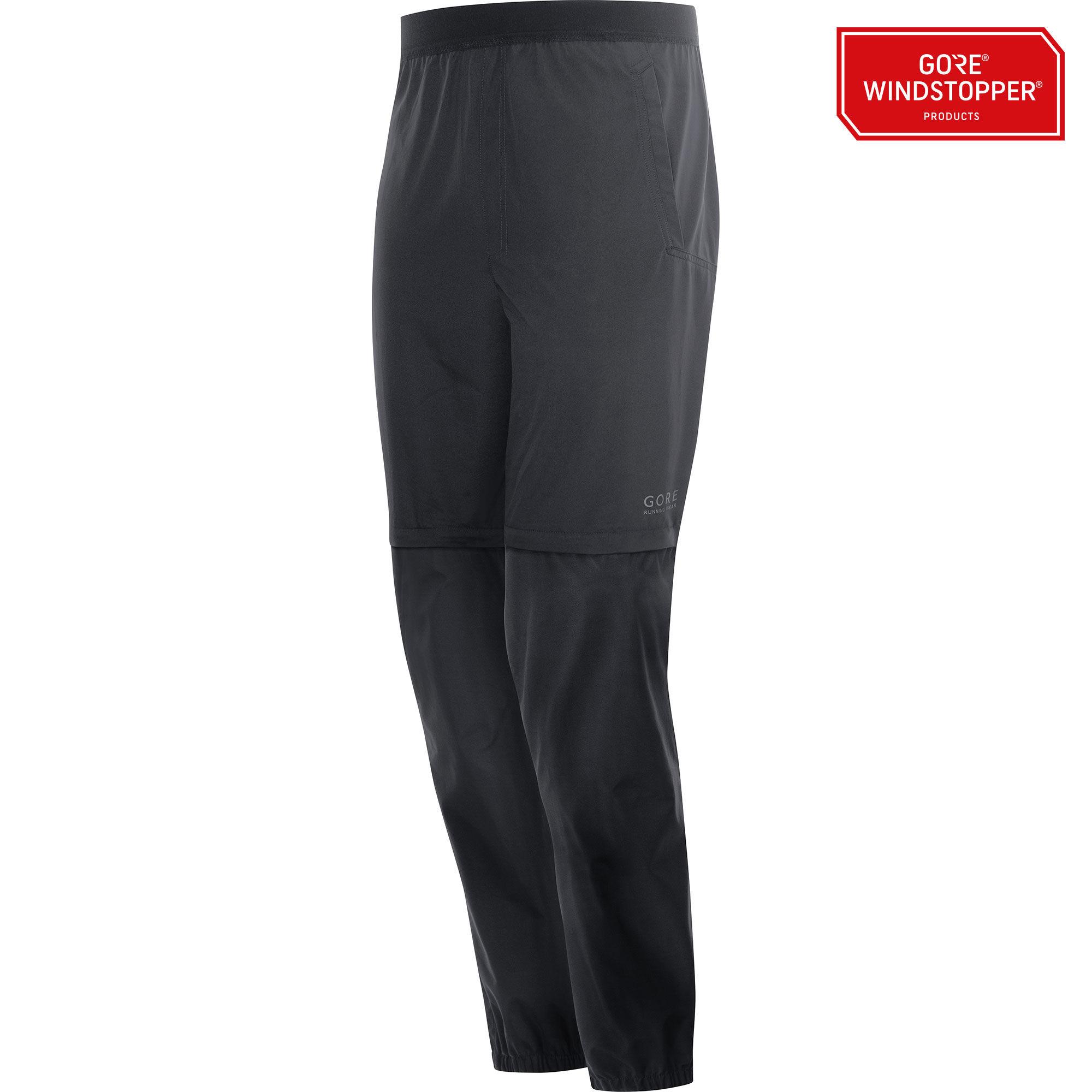 Gore Essential GWS Zip-off Pants in Schwarz