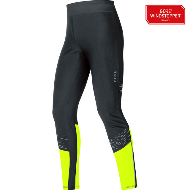 Gore Mythos GWS Tights in Schwarz Neon Gelb