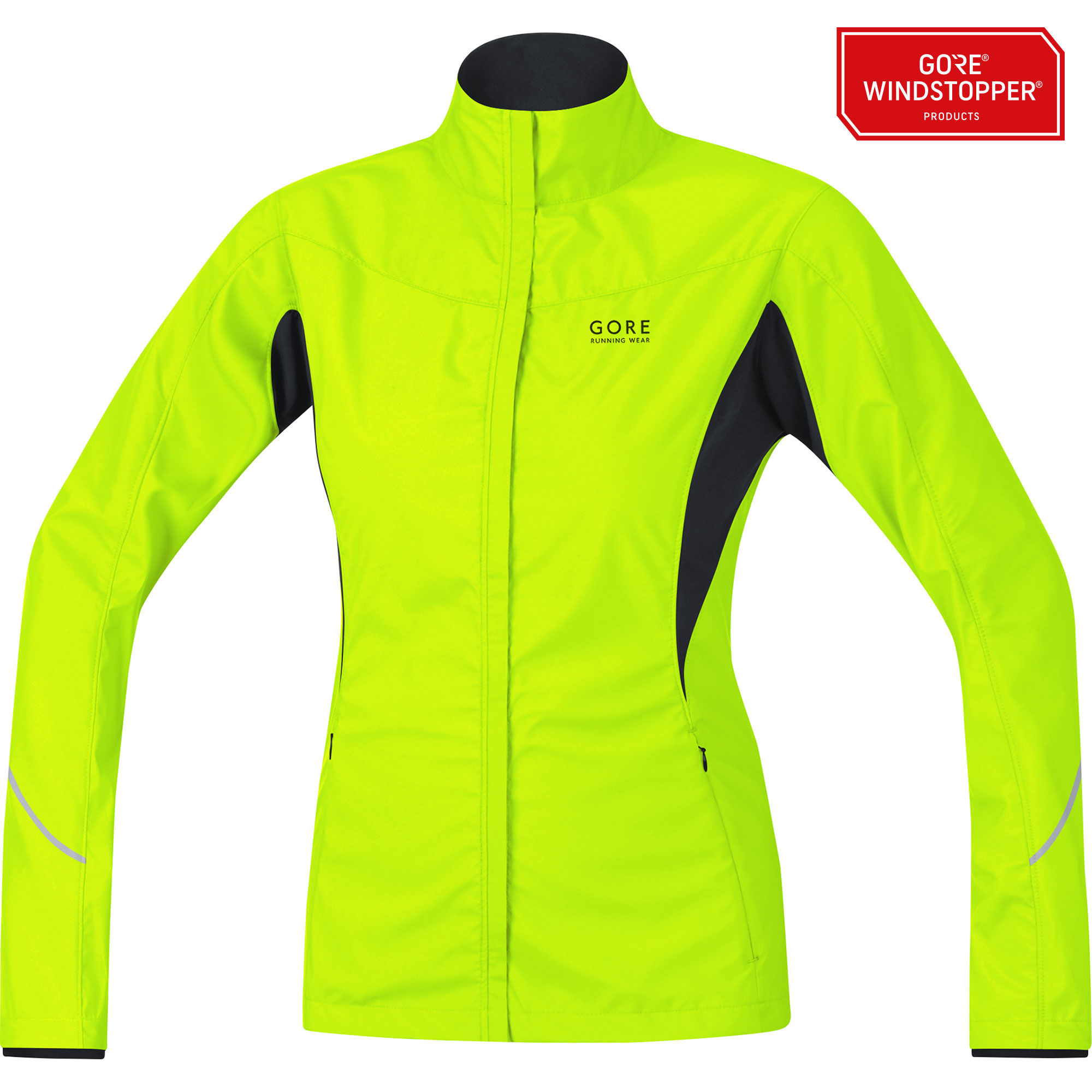 Gore Essential Lady WS AS Partial Jacket in Neon Gelb