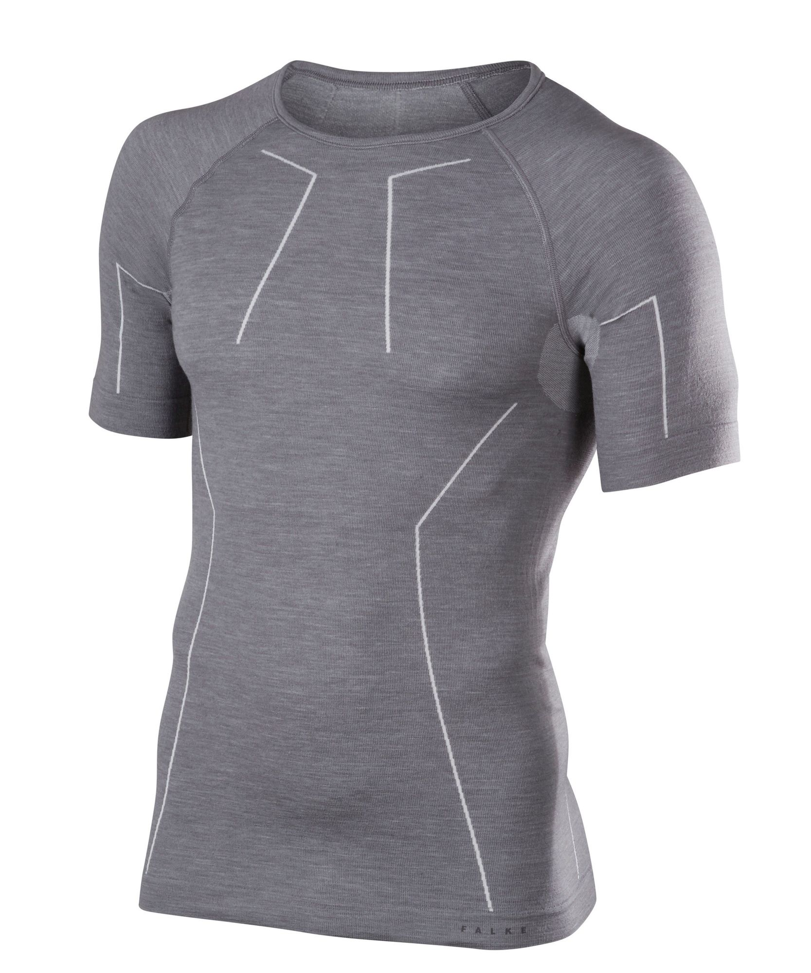 Falke Kurzarmshirt Wool-Tech in Grau