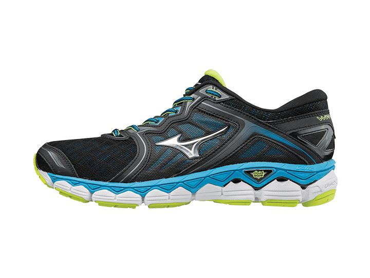 Mizuno Wave Sky in Black/Silver/Diva Blue