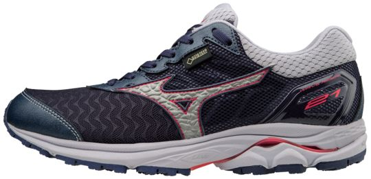 Mizuno Lady Wave Rider 21 GTX in Angel Falls/True Blue/ Electric