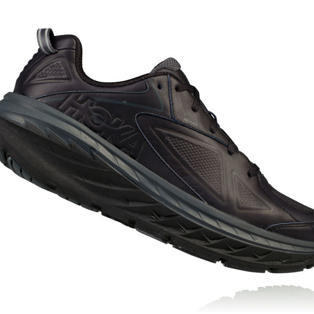 Hoka One One Bondi Leather in Schwarz