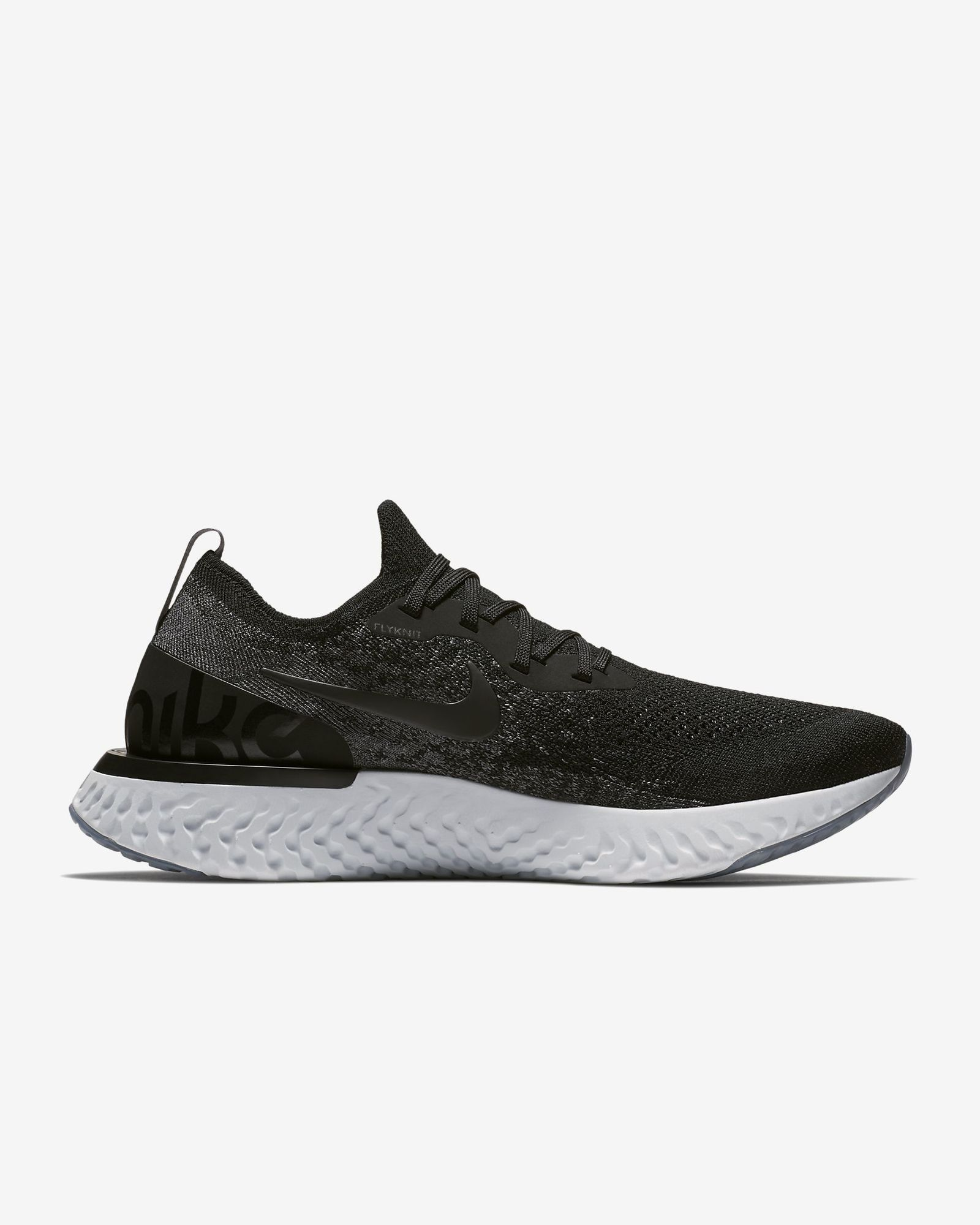 Nike Epic React Flyknit in Schwarz Grau Platin