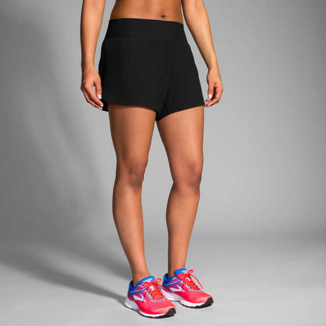"Brooks Lady Chaser 5"" Short (Schwarz)"