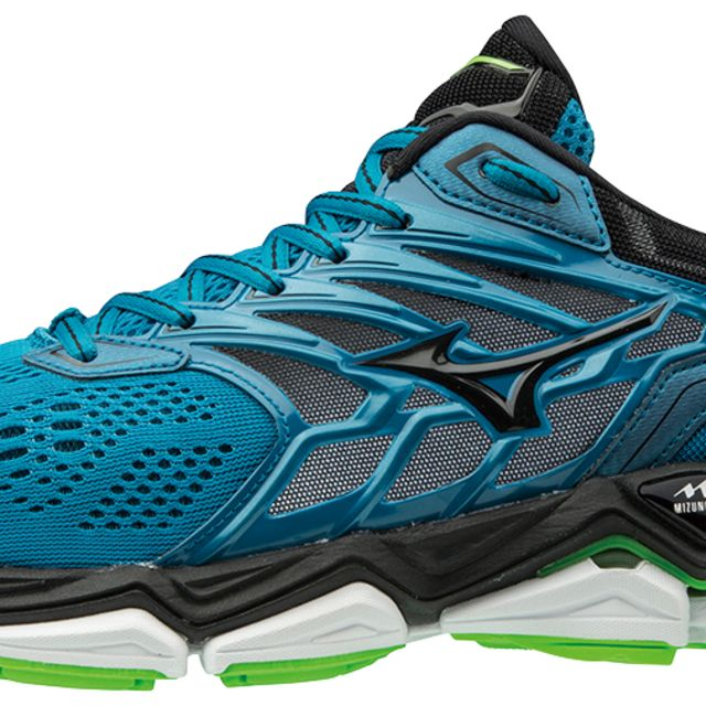 Mizuno Wave Horizon 2 in Grün Blau
