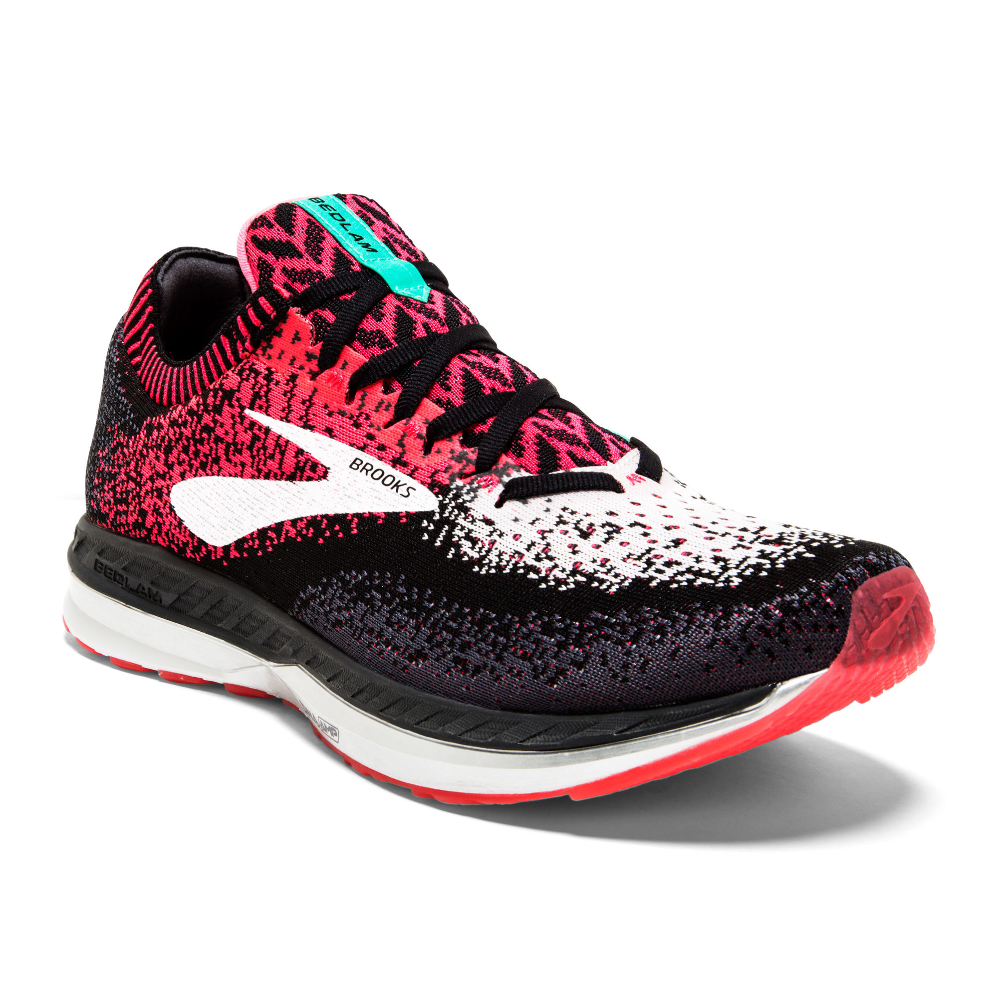 Brooks Lady Bedlam in Rot Schwarz