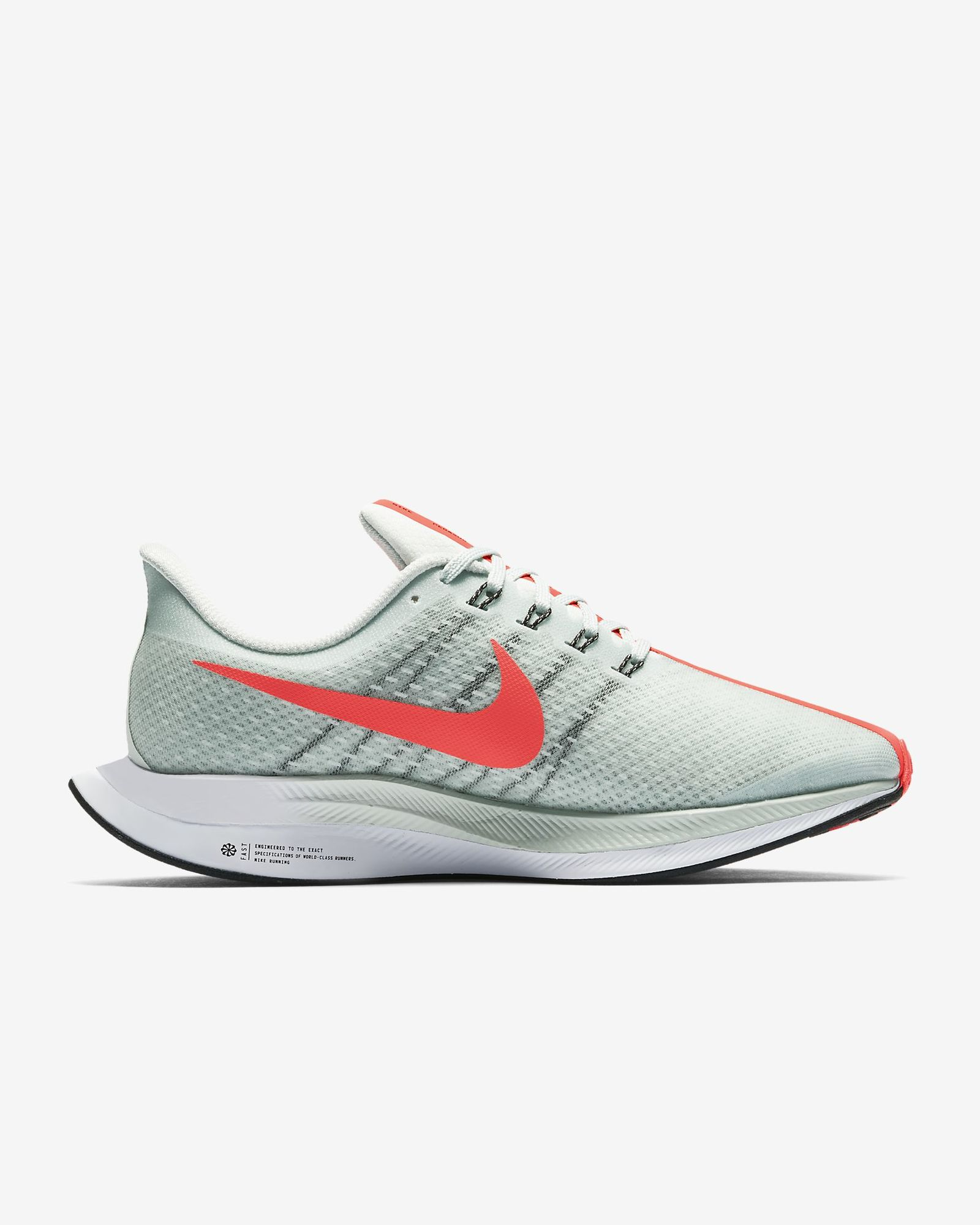 Nike Lady Zoom Pegasus Turbo in Grau Rot