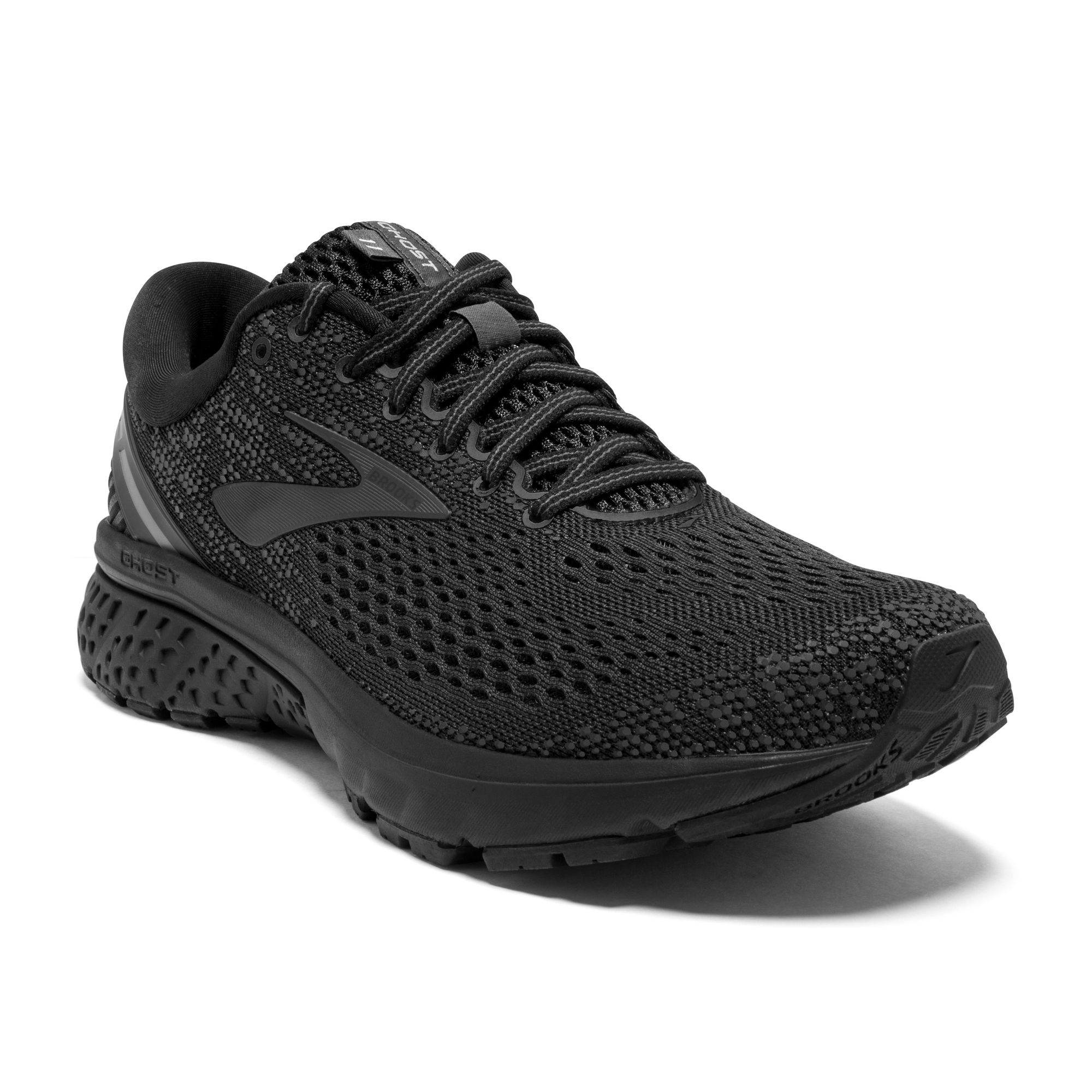 Brooks Ghost 11 Triple Black in Schwarz