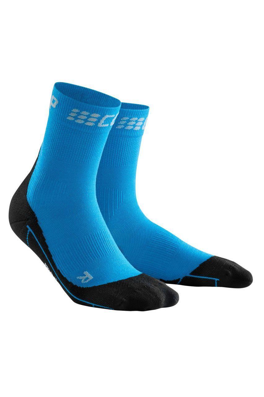 cep Winter Short Socks Women in Blau