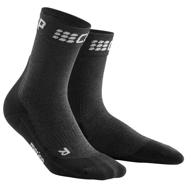 cep Winter Short Socks Women (Grau Schwarz)
