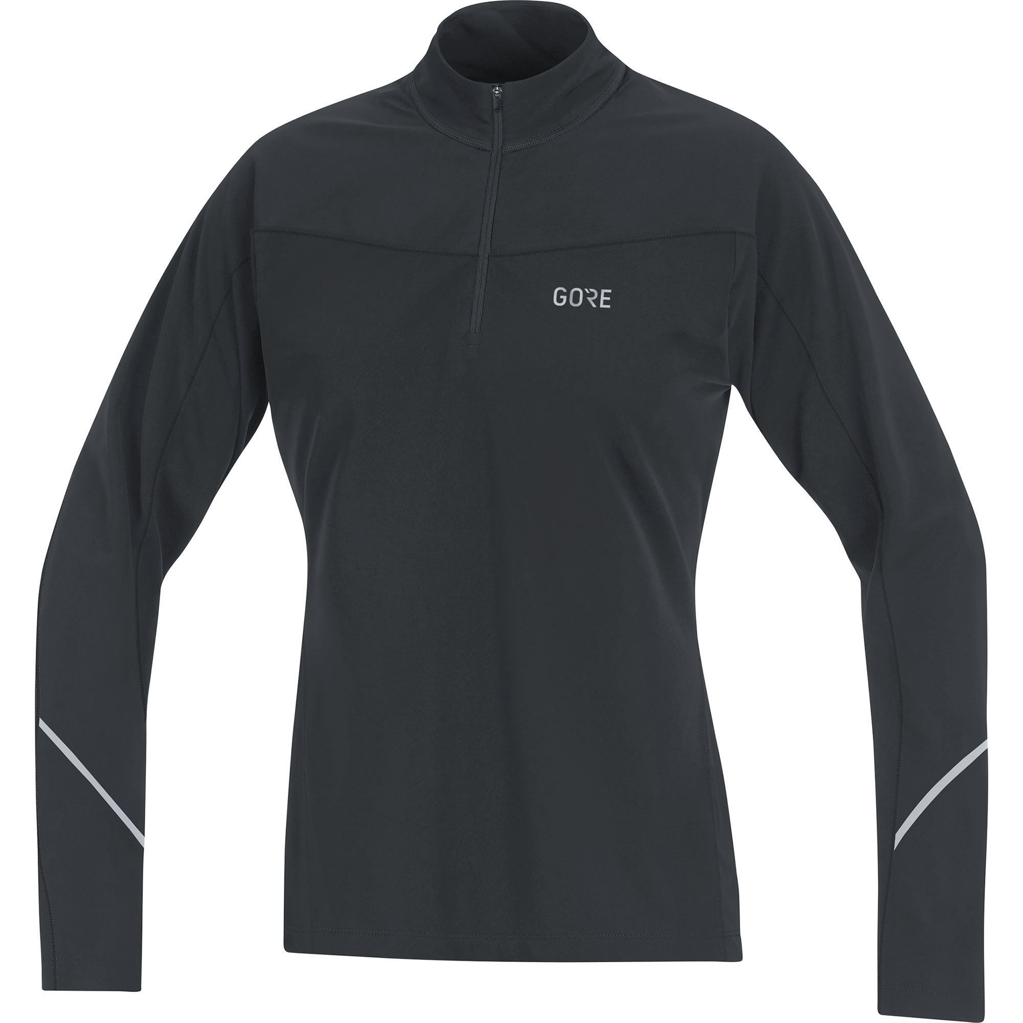 Gore R3 Lady Thermo Zip Shirt Langarm (Schwarz)