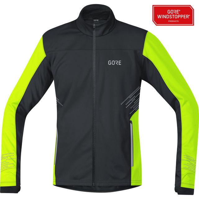Gore R5 Windstopper Jacke in Schwarz/ Neon