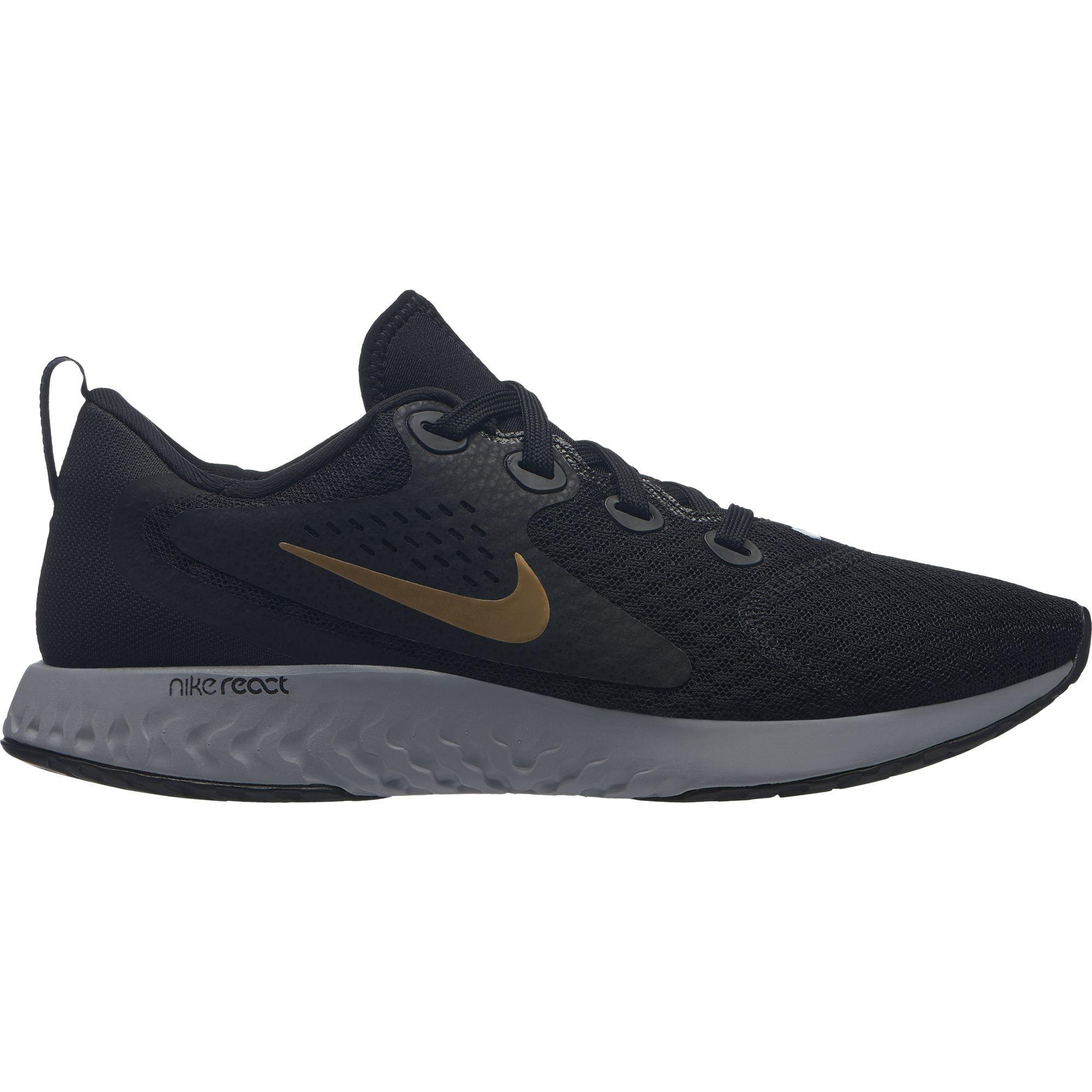 Nike Lady Legend React (Schwarz Gold Grau)