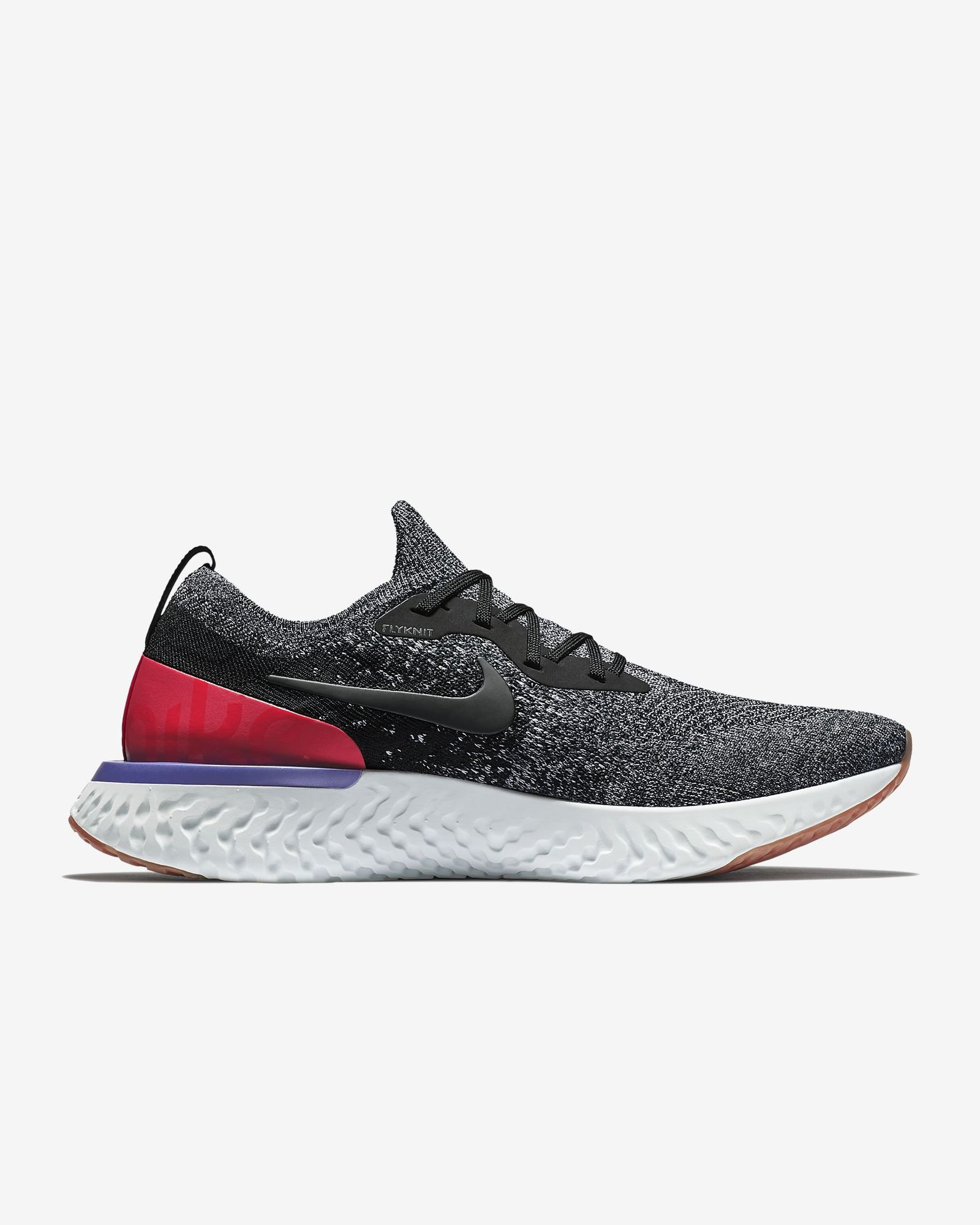Nike Epic React Flyknit (Schwarz Rot Weiß)