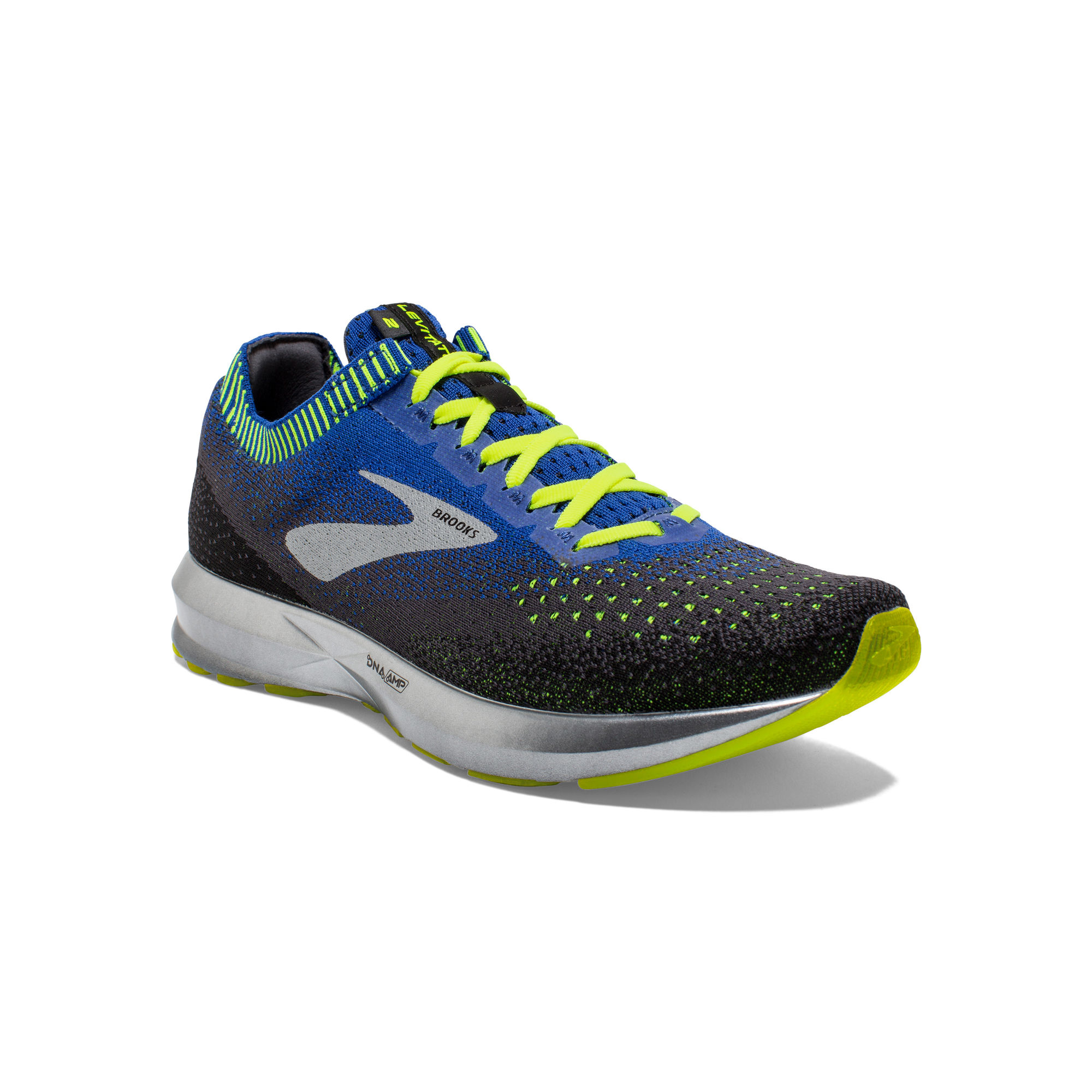 Brooks Levitate 2 in Blau Schwarz Gelb