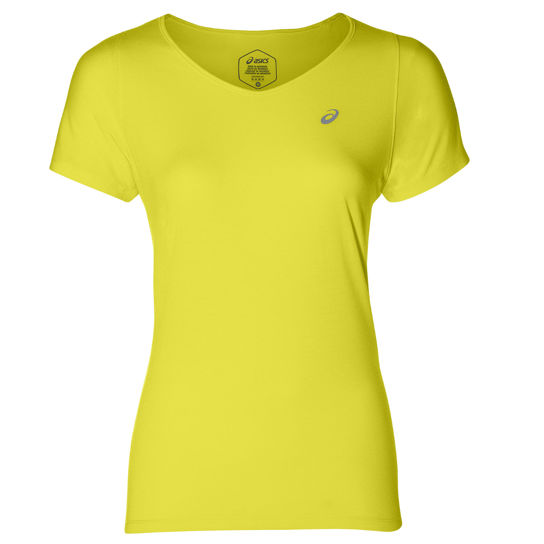Asics Lady V-Neck SS Top in Gelb