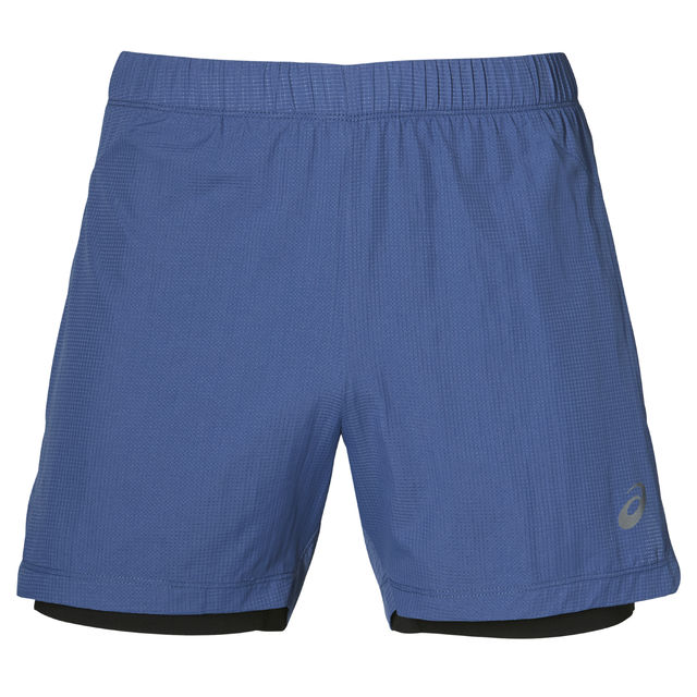 Asics Cool 2-N-1 5IN Shorts in Blau