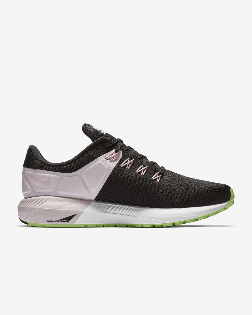 Nike Lady Air Zoom Structure 22 in Schwarz Rosa