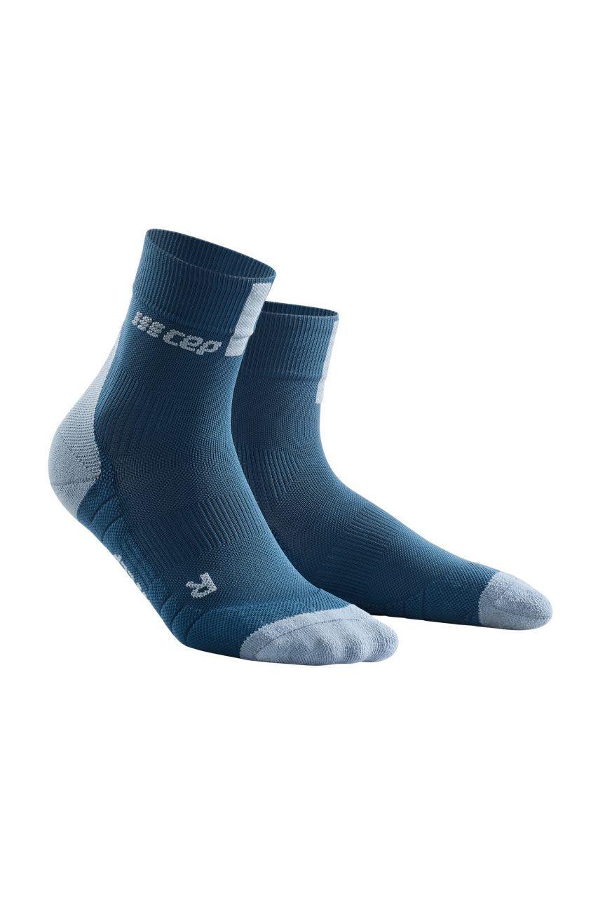 cep Compression Short Socks 3.0 in Blau Grau