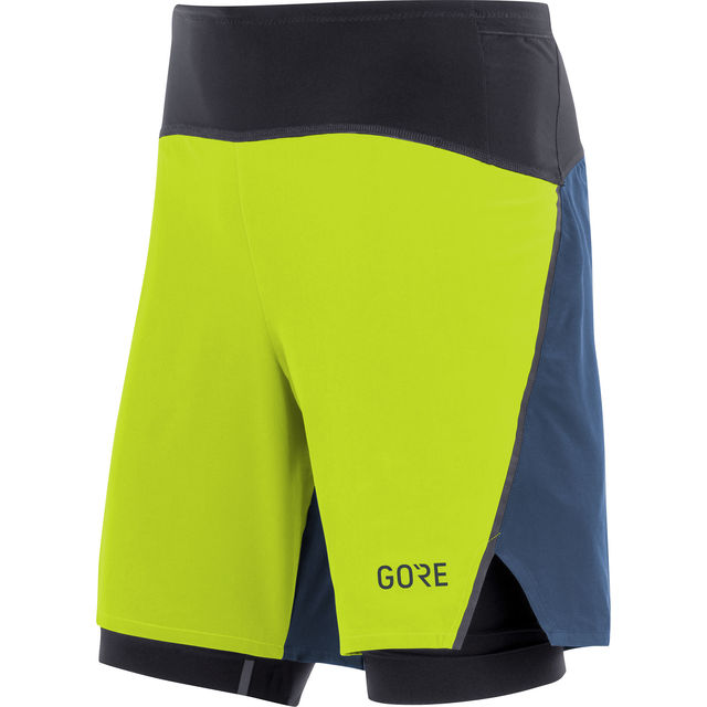 Gore R7 2in1 Shorts in Blau Gelb