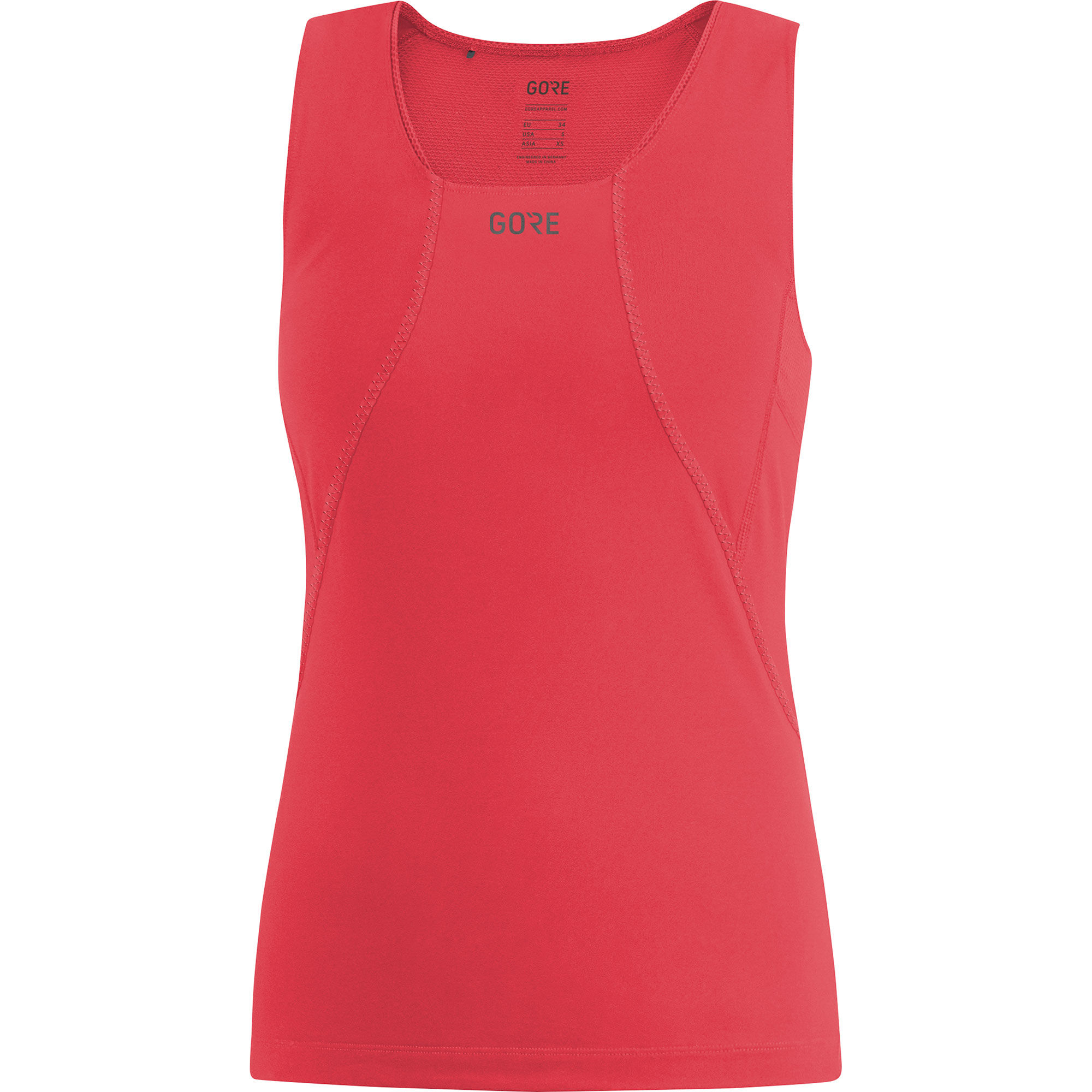 Gore R3 Lady Shirt ärmellos in Rot