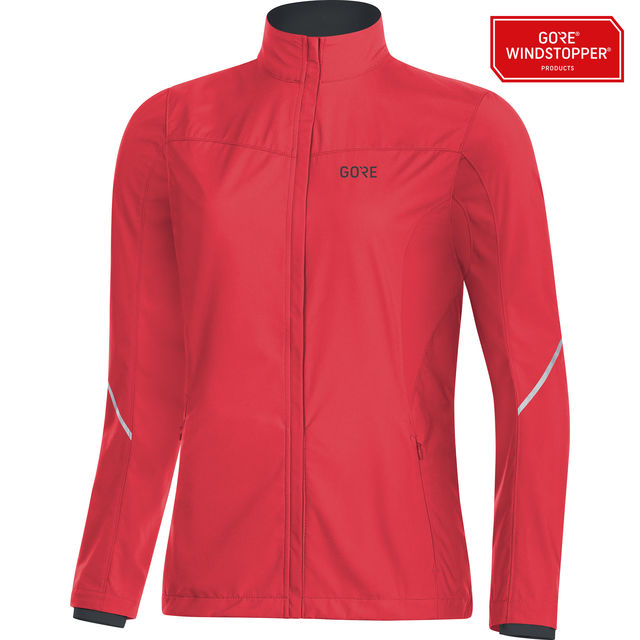 Gore R3 Lady Partial GWS Jacket in Rot