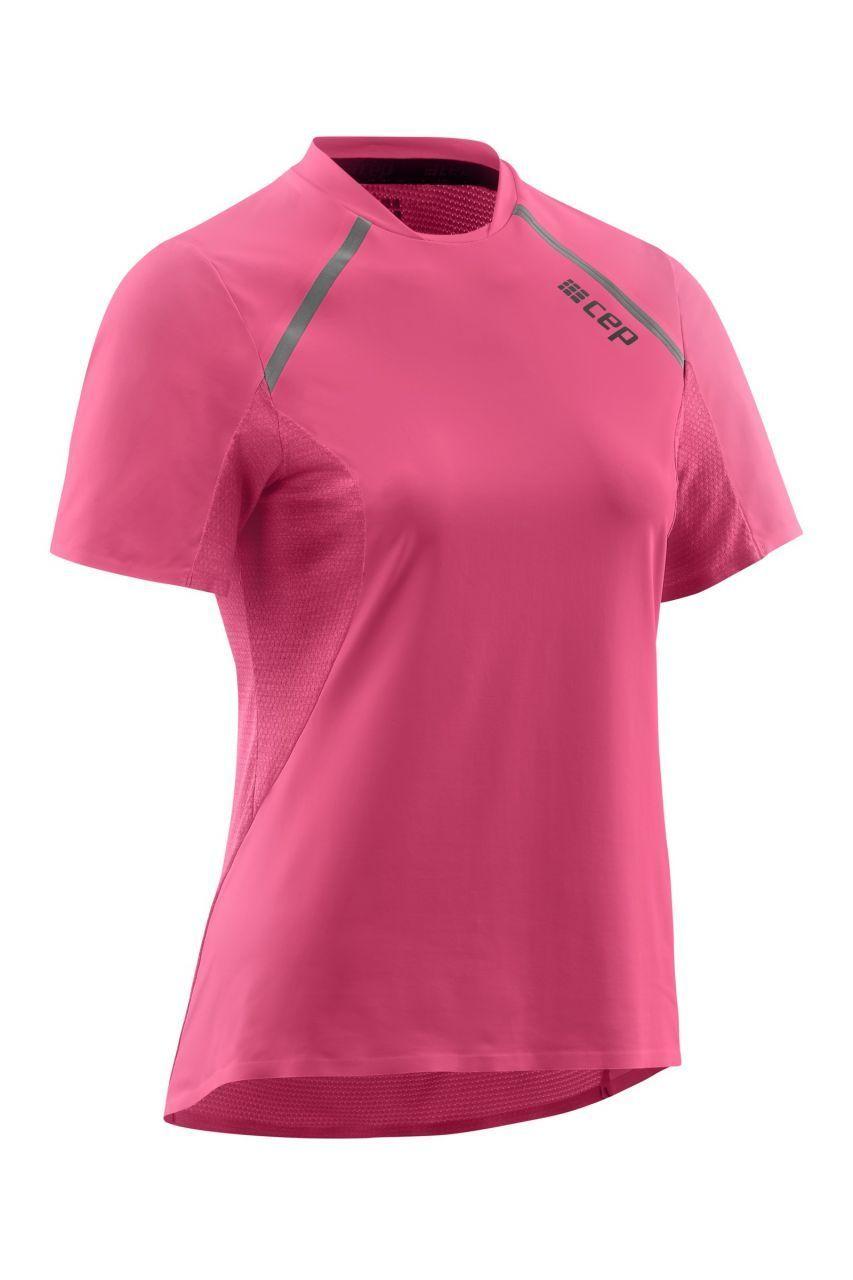 cep Women Run Shirt Short Sleeve (Pink)
