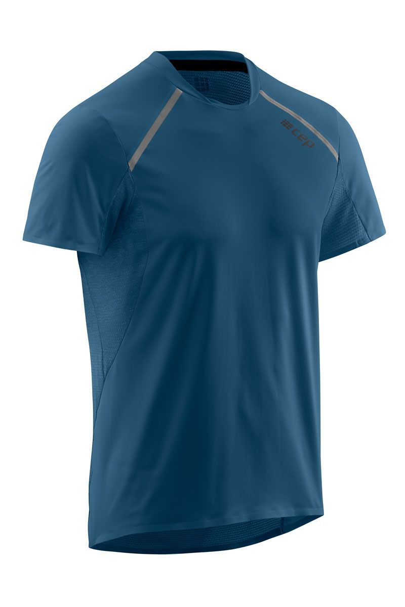 cep Run Shirt Short Sleeve in Blau