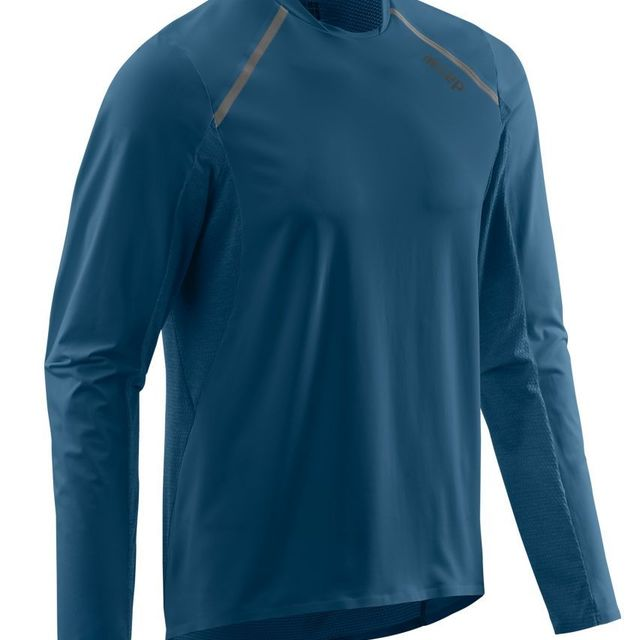 cep Run Shirt Long Sleeve in Blau