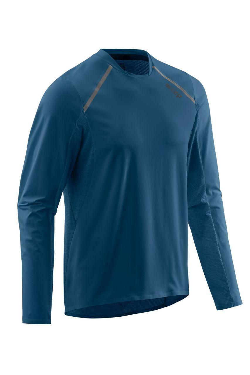 cep Run Shirt Long Sleeve in Blau