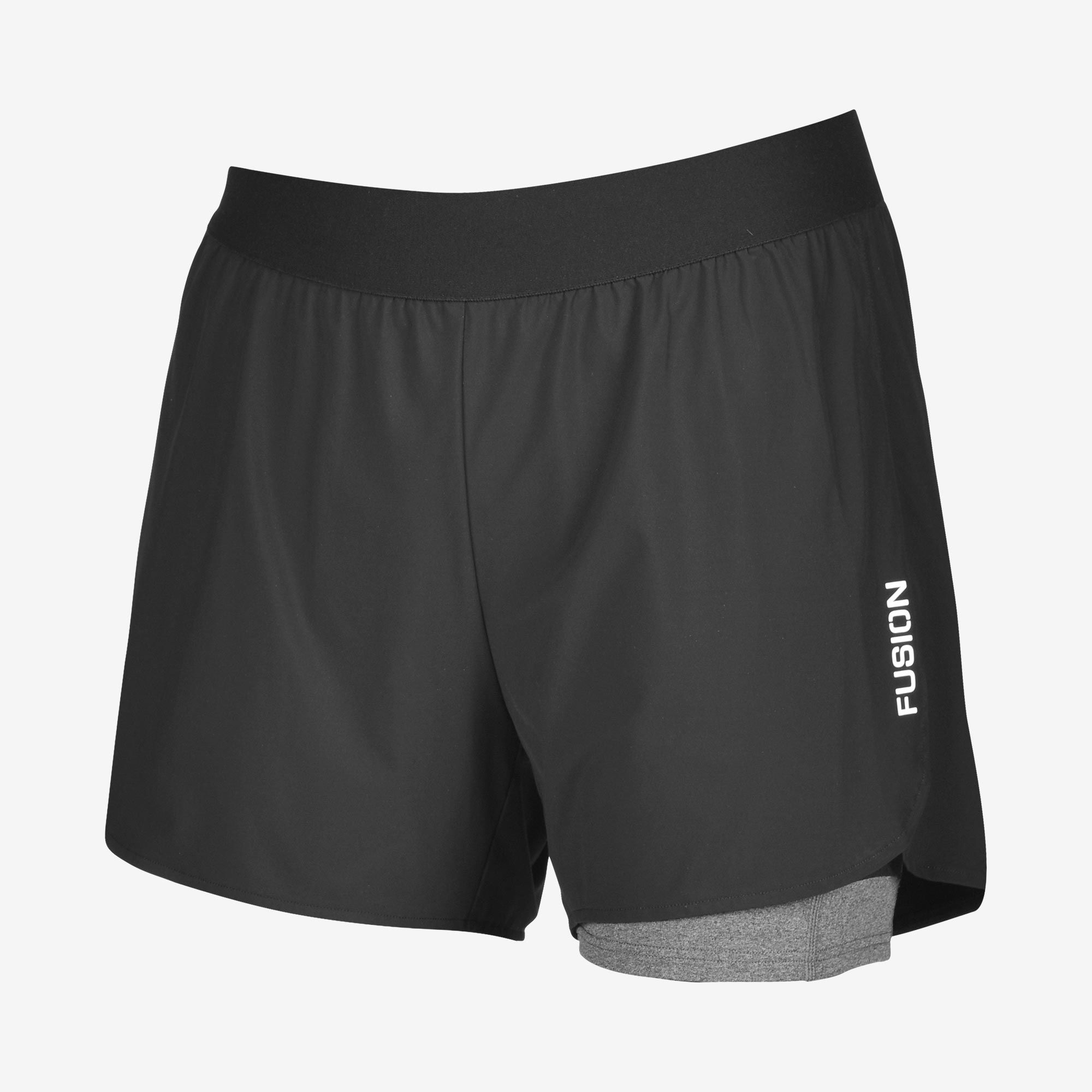 Fusion HP Run Shorts (Schwarz)