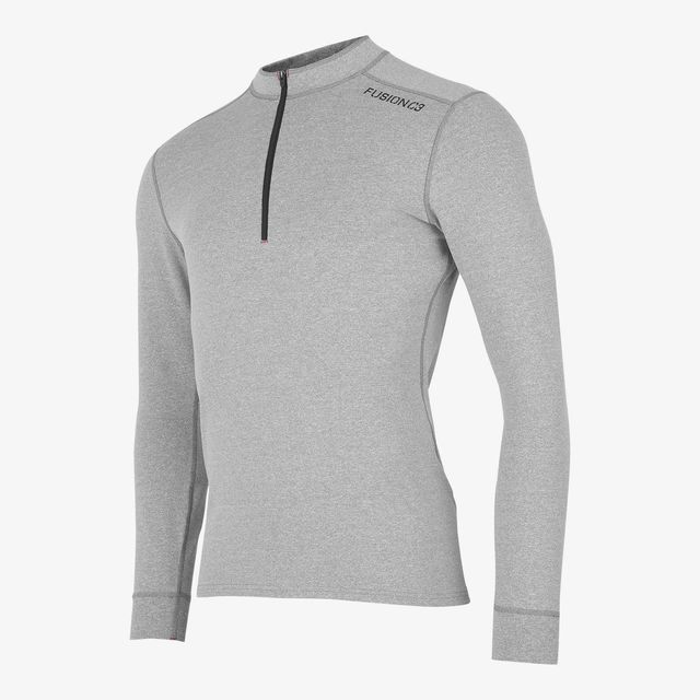 Fusion C3 Zip Neck (Light Grey)