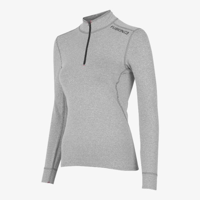 Fusion Women C3 Zip Neck (Light Grey)