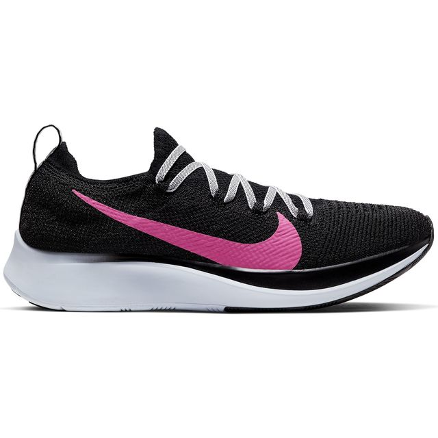 Nike Lady Zoom Fly Flyknit in Schwarz Pink