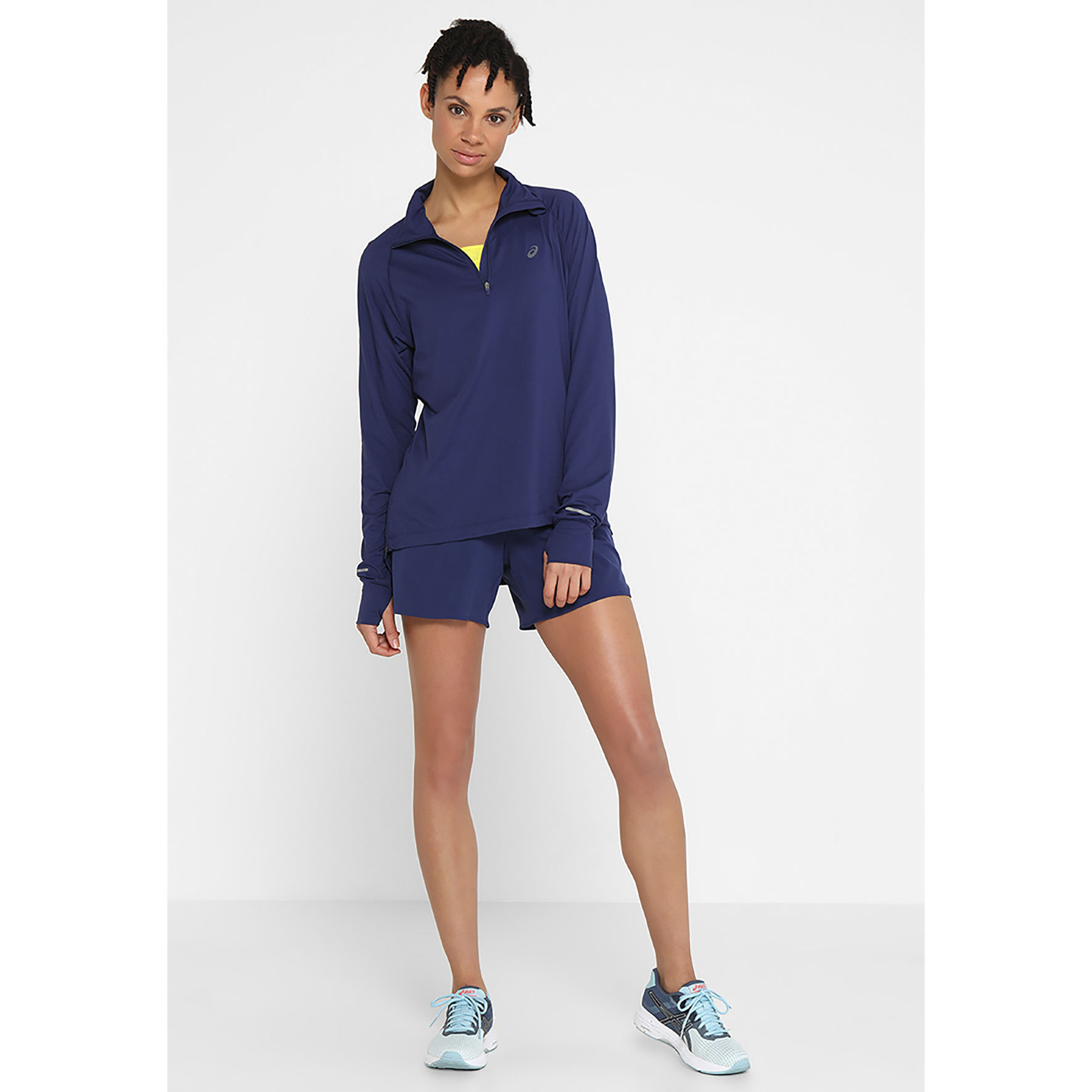 Asics Lady Thermopolis LS 1/2 Zip in Blau