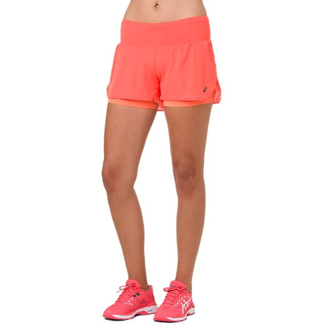 Asics Lady Cool 2-in-1 Shorts in Orange