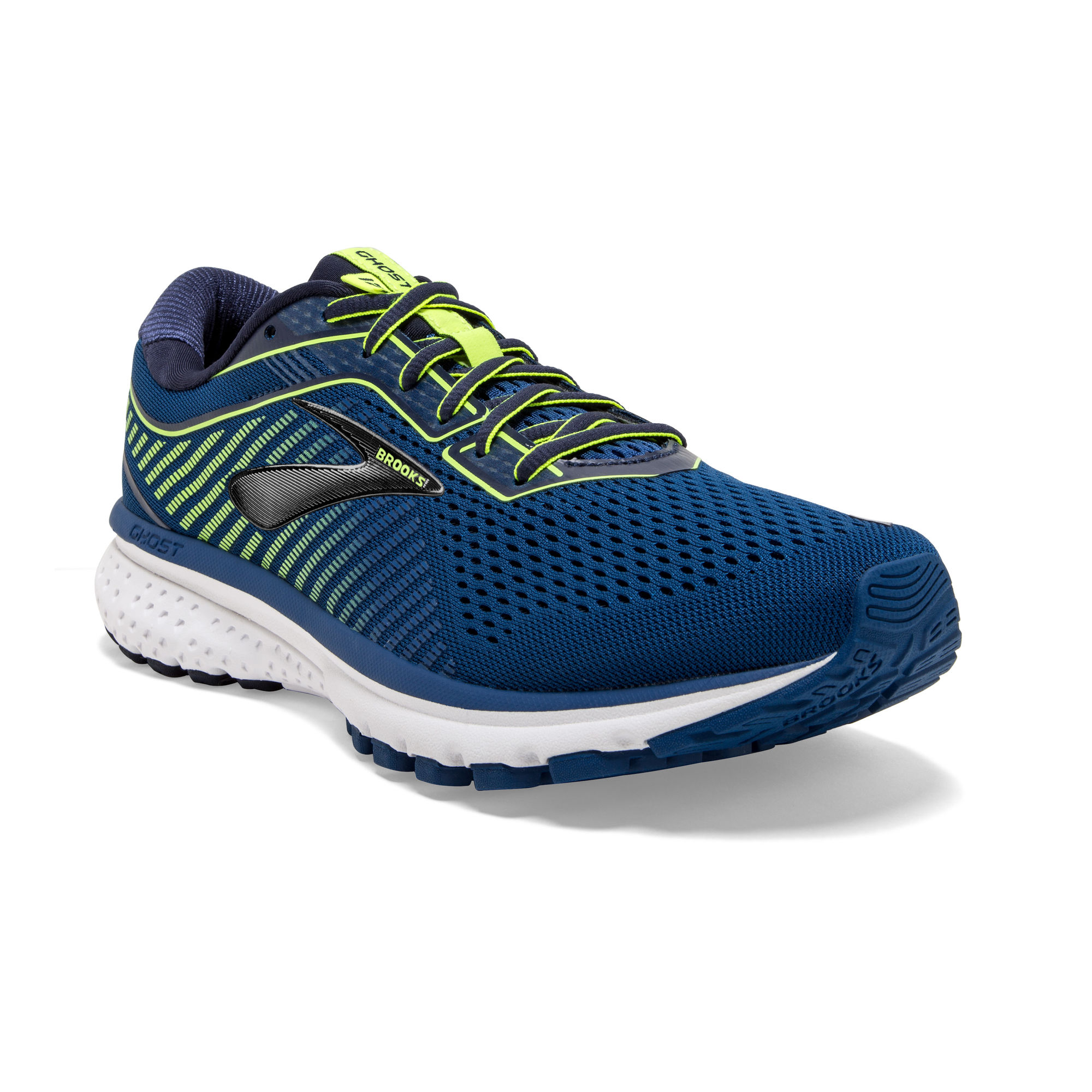 Brooks Ghost 12 in Blau Gelb