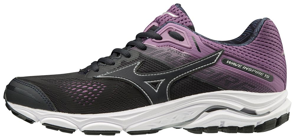 Mizuno Lady Wave Inspire 15 in Grau Lila