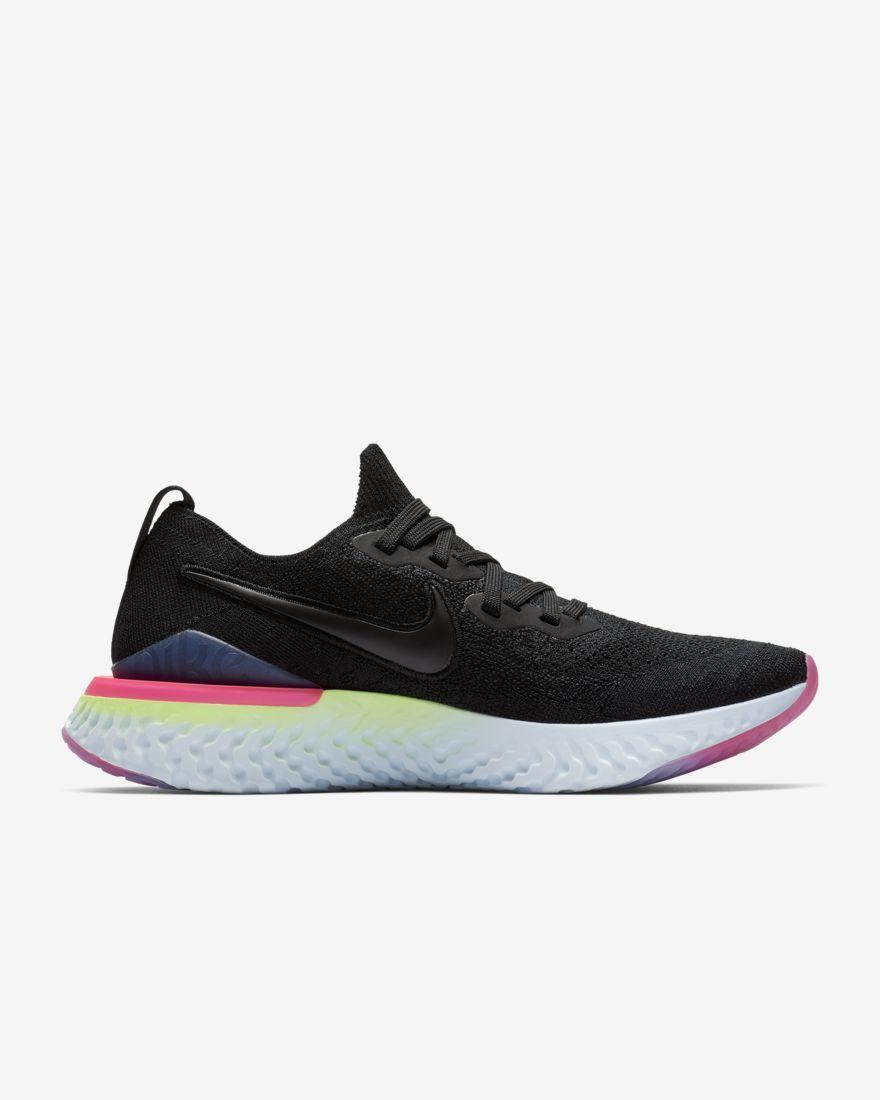 Nike Lady Epic React Flyknit 2 in Schwarz Rosa