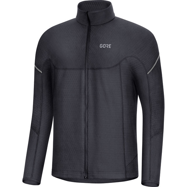Gore Thermo Zip Shirt Langarm in Schwarz
