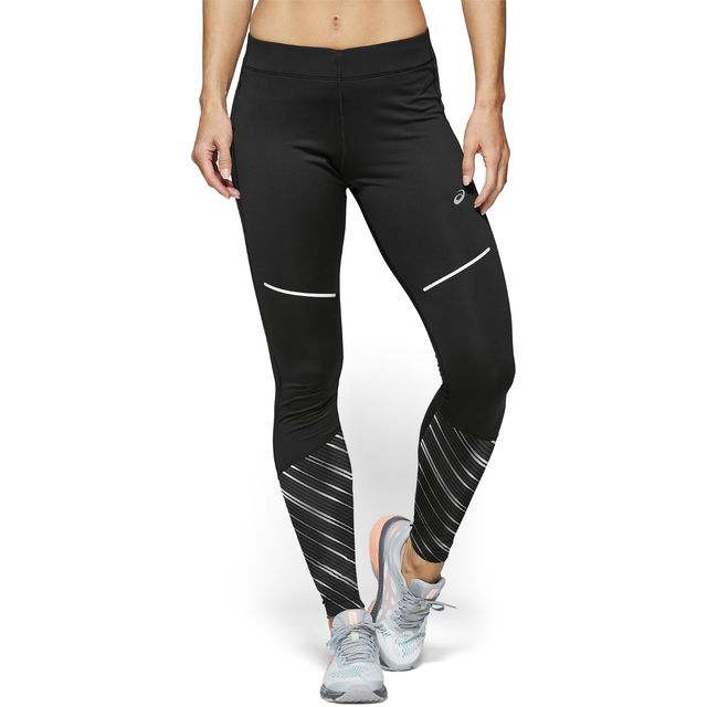 Asics Lady Lite-Show 2 Winter Tight in Schwarz