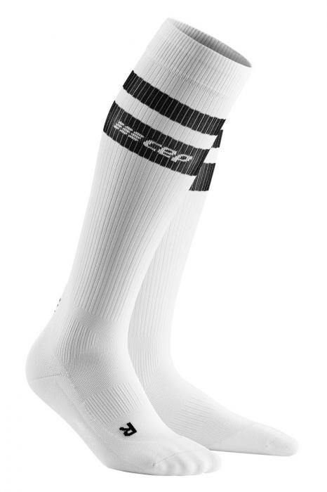 cep 80's Compression Socks in Weiß Schwarz