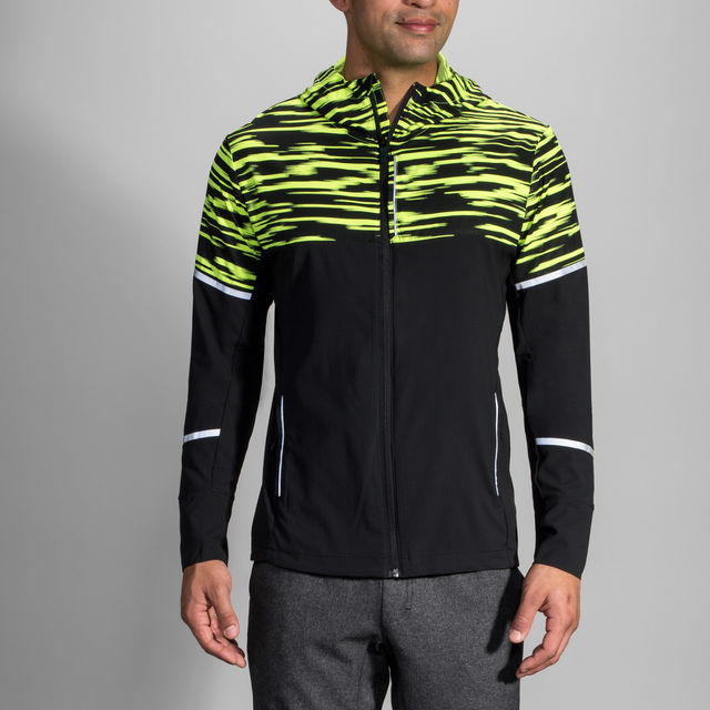 Brooks Nightlife Jacket (Gelb Schwarz)