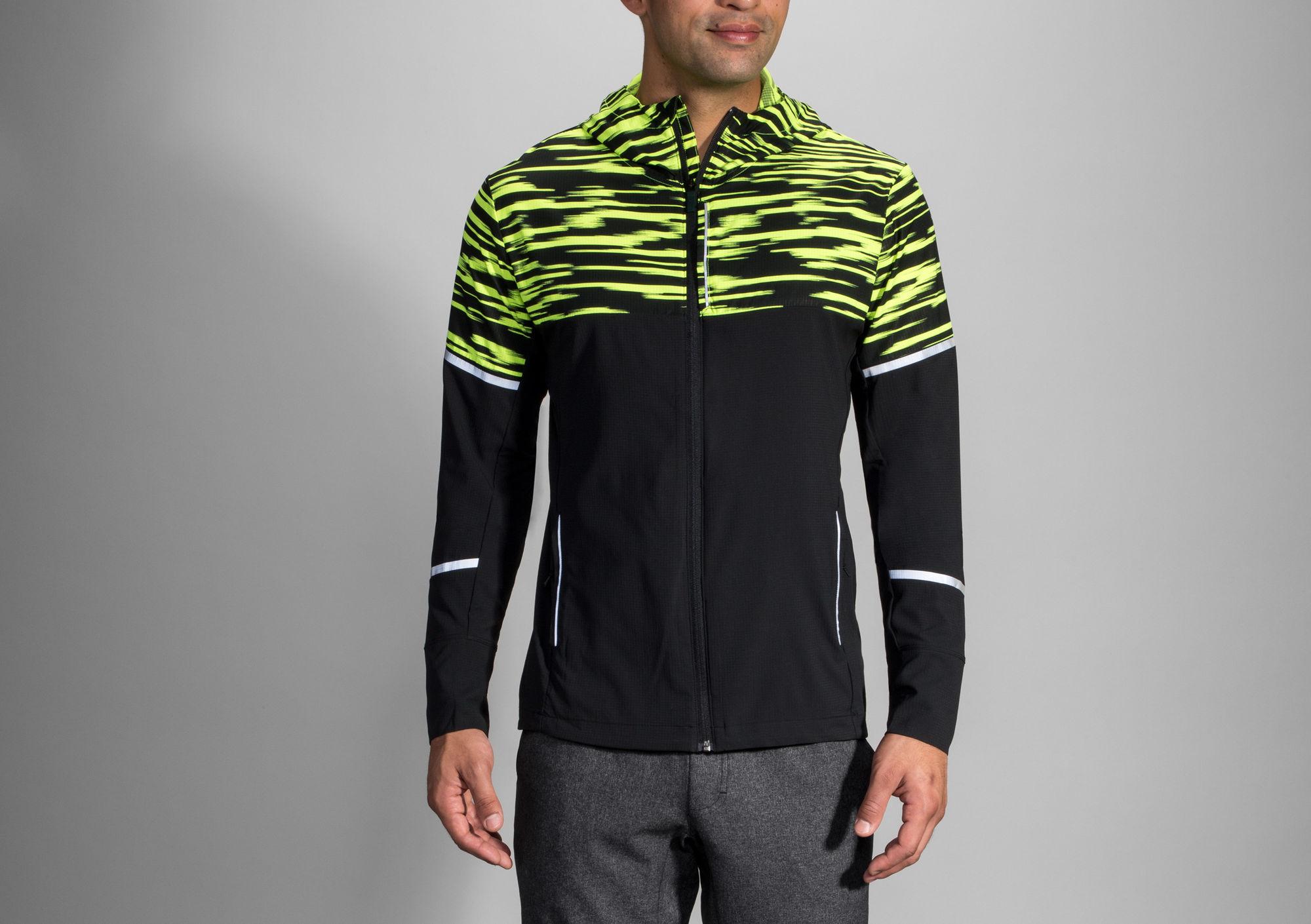 Brooks Nightlife Jacket in Gelb Schwarz